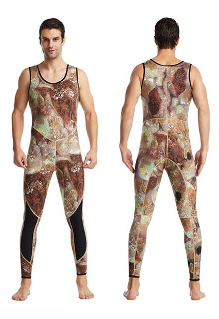 3mm Wetsuit Camouflage Diving Suits Back Zip Surfing Suit 3mm