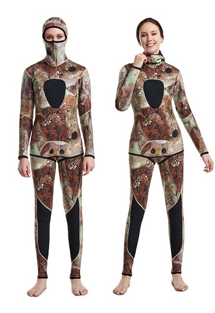 3mm Wetsuit Camouflage Diving Suits Back Zip Surfing Suit