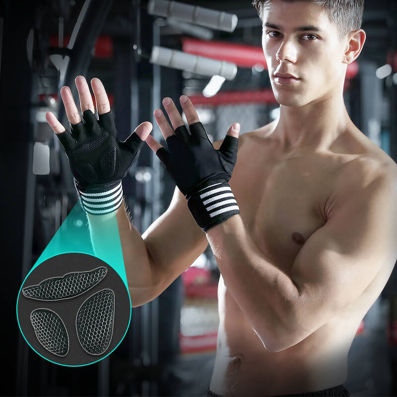 Training Gloves Sport Gloves with Built-In Wrist Wraps