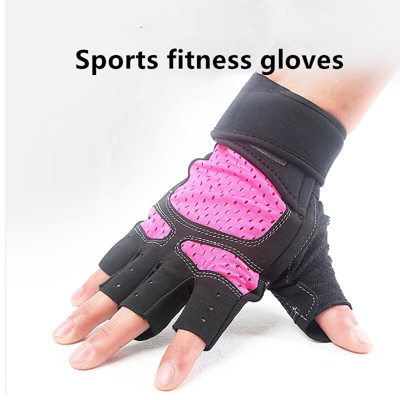 Half Finger Aerobic Sport Workout Fitness Gloves Weight Lifting Gym Gloves