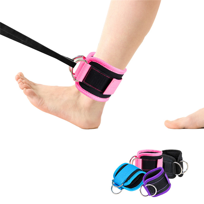Custom Workout Ankle Straps for Cable Machines Double D-ring