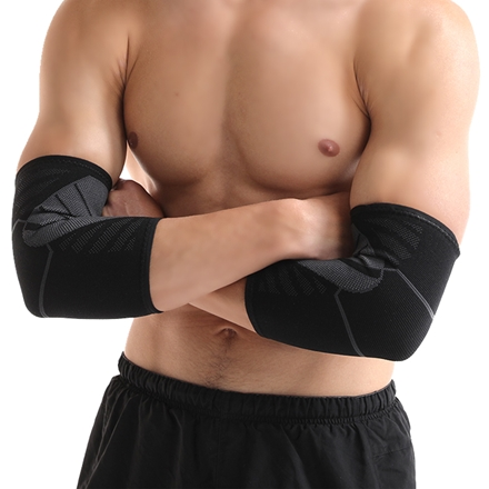 Custom Logo Knitted Elbow Sleeve Recovery Compression Support for Weightlifting