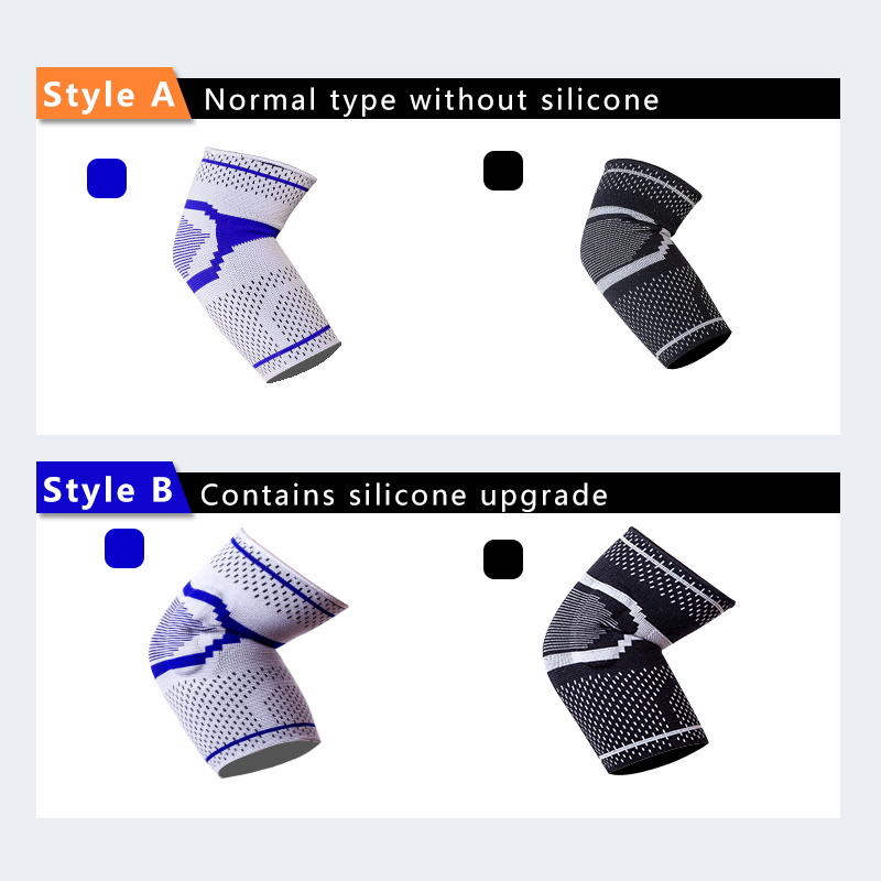 Elastic silicone elbow and knee brace support belt factory